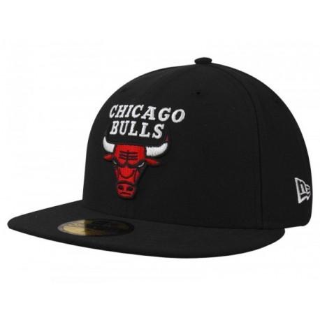 NEW ERA BASIC CHICAGO BULLS TEAM 59FIFTY BLACK
