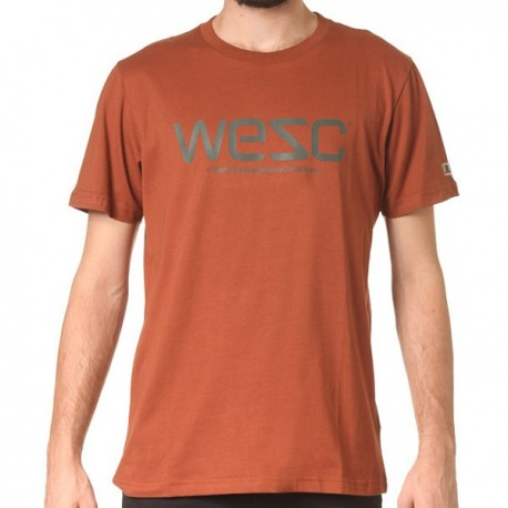 WESC T-SHIRT GOLDEN CAMEL