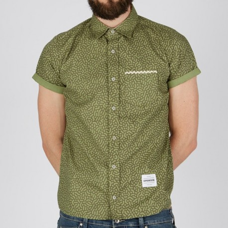 CAMISA CHICO SUPREMEBEING STRIKE SHIRT CELL OLIVE