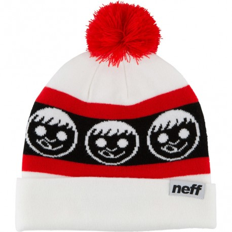 GORRO NEFF STANDARD WHITE / RED
