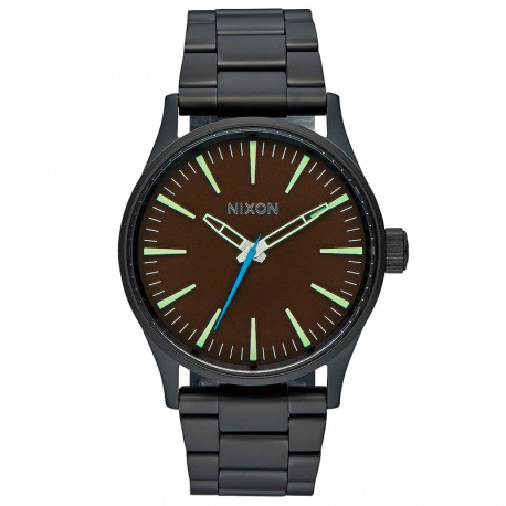 RELOJ NIXON SENTRY 38 SS ALL BLACK / BROWN