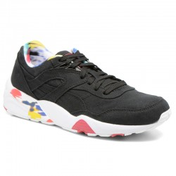 PUMA MUJER R698 TRINOMIC BLUR WN'S BLACK WHITE ROSE RED