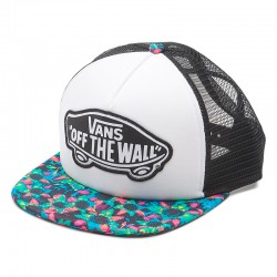 GORRA VANS BEACH GIRL TRUCKER FLORAL MIX BLACK / TURQUOISE