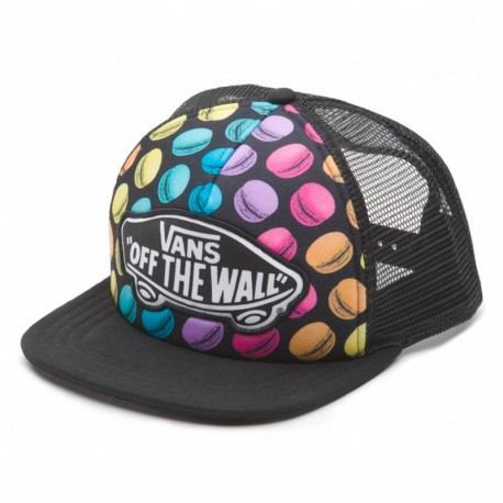 GORRA VANS BEACH GIRL TRUCKER LATE NIGHT / BLACK / MACAROONS