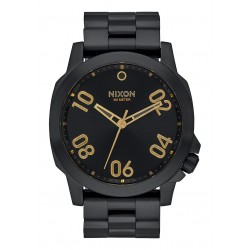 RELOJ NIXON RANGER 45 ALL BLACK / GOLD