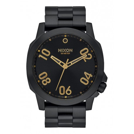 RELOJ NIXON RANGER 45 ALL BLACK / GOLD