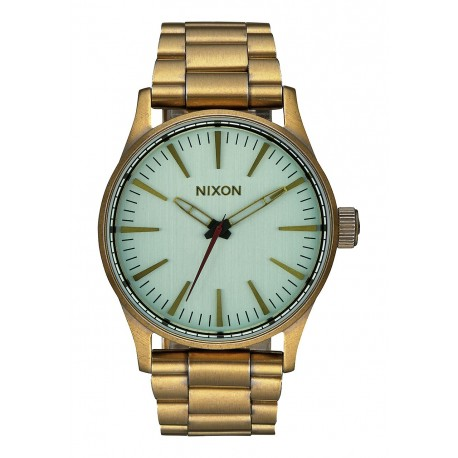 RELOJ NIXON SENTRY 38 SS ALL BRASS / GREEN CRYSTAL