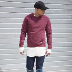 SUDADERA BIKER SIXTH JUNE BURGUNDY