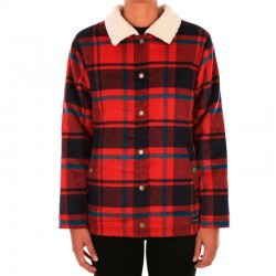 IRIEDAILY PLAID TEAM JACKET DARK RED