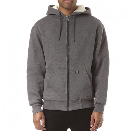 CHAQUETA DICKIES SHERPA FLEECE DARK HEATHER GREY