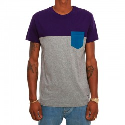 CAMISETA IRIEDAILY BLOCK POCKET 2 DEEP PURPLE